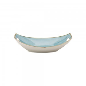 "Hammered Glass Angled 3"" Bowl"