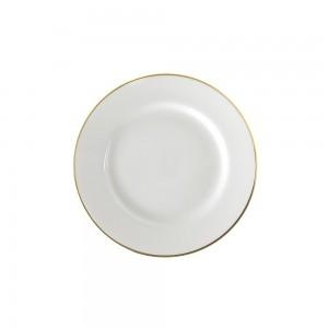 Lotus Silver Line Salad/Dessert Plate