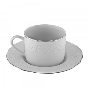 Royal White Demi Can Cup/Saucer