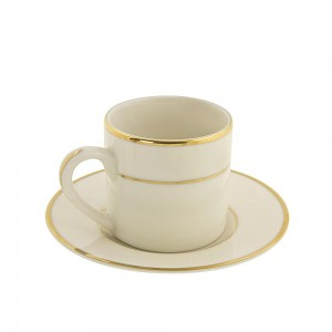 Sahara Black Can Cup/Saucer