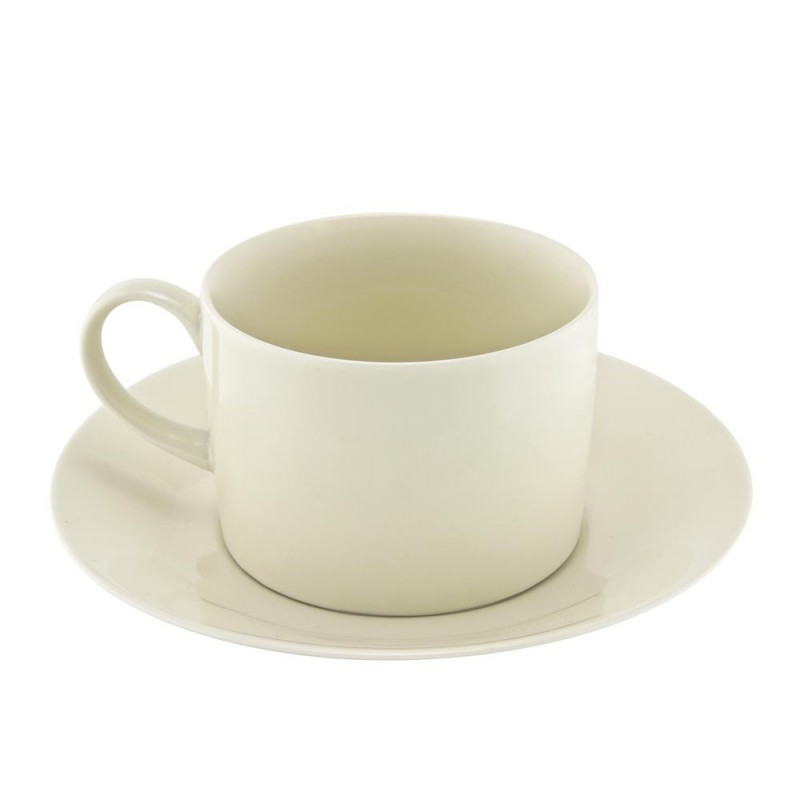 Silver Double Line Can Cup/Saucer