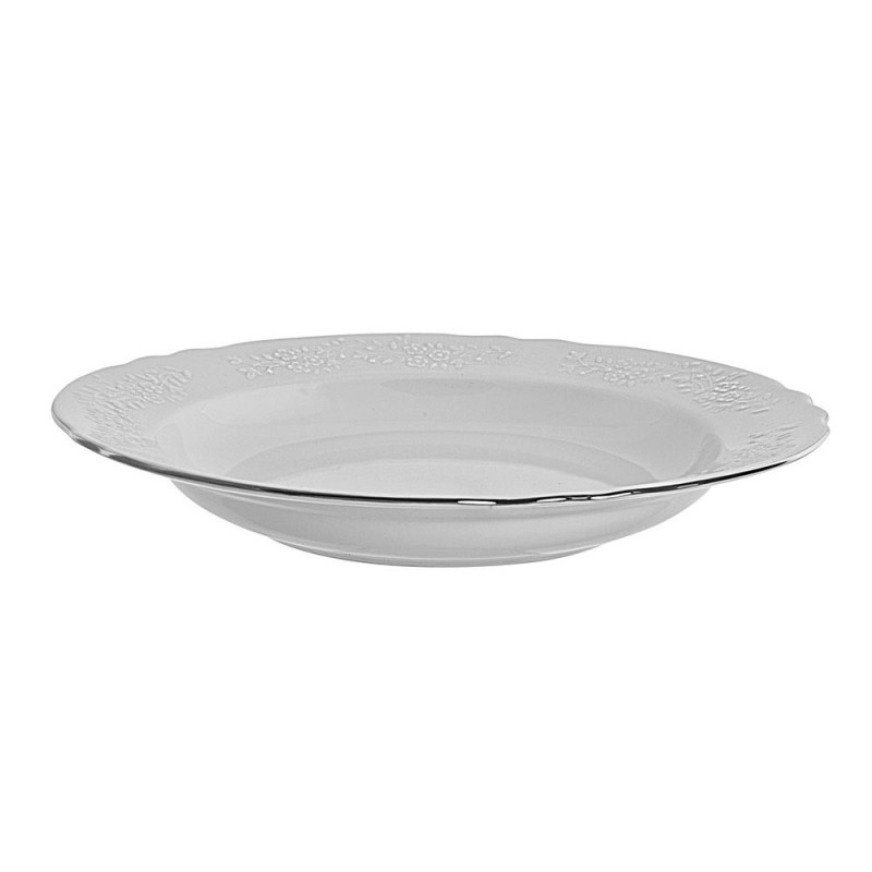 """Royal White Rim Soup 12"""""""