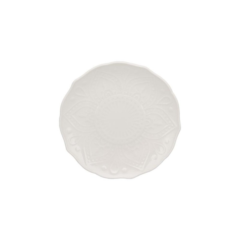 Silver Double Line Charger Plate