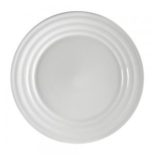 Criss Cross Clear Glass Round Salad